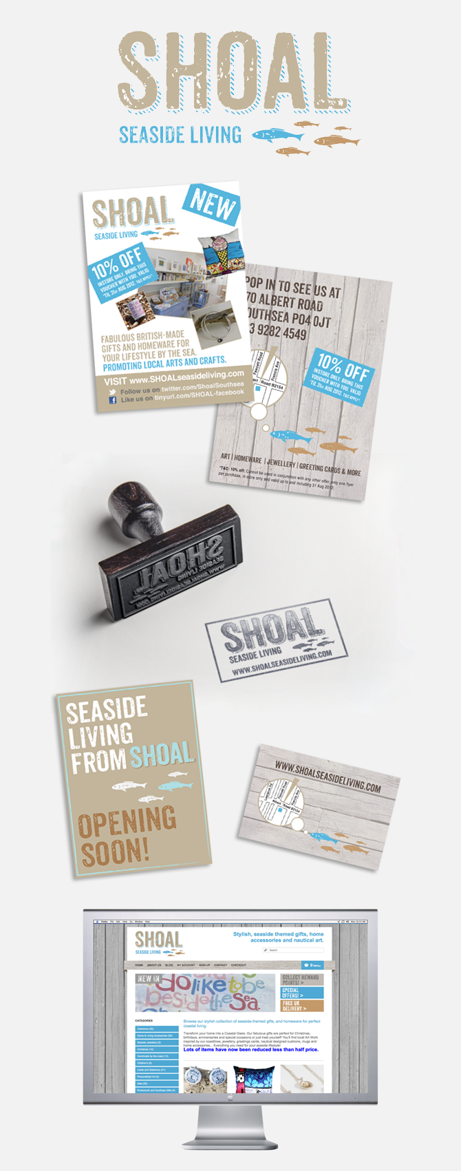 local graphic designer portsmouth SHOAL Seaside Living